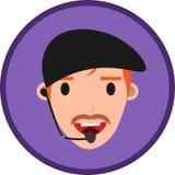 De klantenservice of contacteert ons een mens vector illustratie