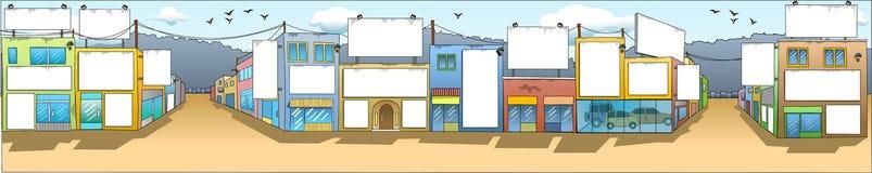De klantgerichte Voorzijden van Gebouwen Vector Illustratie