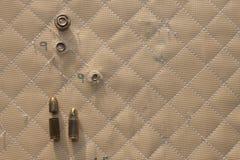 De klap schoot 9mm in Kevlar royalty-vrije stock foto