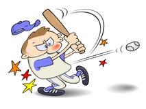 De klap van het honkbal Stock Foto