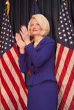 De klappen van Gingrich van Calista voor Newt. Royalty-vrije Stock Foto's