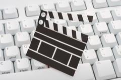 De klapraad en toetsenbord van de film Stock Afbeeldingen