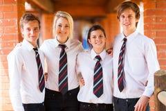 De klasgenoten van de middelbare school stock foto's