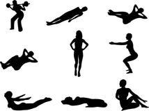 De Klasse van de gymnastiek vector illustratie