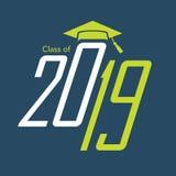 De klasse van 2019 Gelukwensen behaalt Typografie een diploma royalty-vrije illustratie