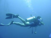De klasse van het vrij duiken royalty-vrije stock afbeeldingen