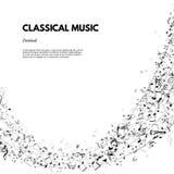 De klassiek affiche van het muziekfestival of bannermalplaatje De vector Klassieke tekst van het Muziekfestival op staafachtergro Stock Fotografie