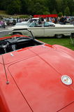 De klassieke Amerikaanse auto toont Stock Afbeelding