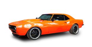 De klassieke Amerikaanse Auto van de Spier Witte achtergrond Stock Fotografie