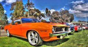 De klassieke Amerikaanse Barracuda van Plymouth van 1970 Stock Fotografie