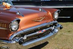 De klassieke Amerikaanse Chevy-close-up van het autodetail Stock Afbeelding