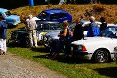 De klassieke auto toont in Kragero, Noorwegen Royalty-vrije Stock Afbeeldingen