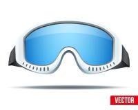 De klassieke beschermende brillen van de snowboardski met kleurrijk glas Stock Foto's