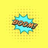 De klassieke BOOM van de de toespraaksticker van strippaginaboeken! royalty-vrije illustratie