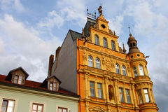 De klassieke bouw, Ceske Budejovice, 2011 stock afbeeldingen