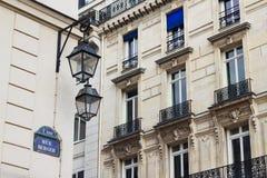 De klassieke bouw in Parijs, Frankrijk royalty-vrije stock foto