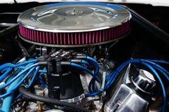 De klassieke details van de motor van een autoinham Stock Afbeeldingen