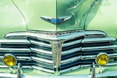 De klassieke Grill van Chevrolet Chrome Stock Foto