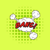 De klassieke KLAP van de de toespraaksticker van strippaginaboeken! stock illustratie