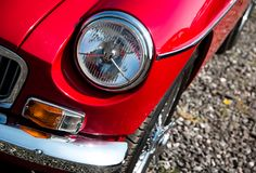 De klassieke Koplamp van de Auto royalty-vrije stock fotografie