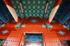 De klassieke Ming-stijl van de dynastie koninklijke architectuur royalty-vrije stock foto