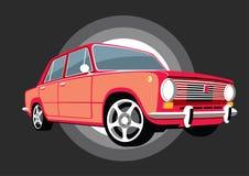 De klassieke sovjet de USSR auto van Italië met legeringswielen vector illustratie
