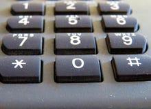De klassieke telefoonnummers sluiten omhoog macrofoto stock foto