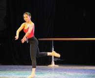 De klassieke trainingscursus van de ballet op:leiden-basisdans Stock Afbeeldingen