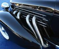 De klassieke Uitlaatpijpen van Art deco Automobiele Chrome Royalty-vrije Stock Fotografie