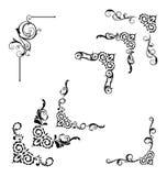 De klassieke uitstekende geplaatste symbolen van de wervelingsgrens Royalty-vrije Stock Afbeelding