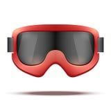 De klassieke uitstekende oude ski van school rode snowboard Royalty-vrije Stock Foto
