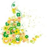 De klavertjevier met bloeit Stock Afbeelding