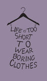 De kleding van de maniervrouw van woorden. Stock Fotografie