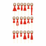 De kleding van de vrouw Reeks van verschillend ontwerp tien van elegant en mooi Stock Afbeelding