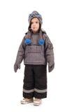 De kleding van de winter, jong geitje Royalty-vrije Stock Foto