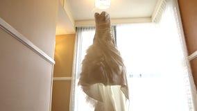De kleding van het huwelijk stock footage