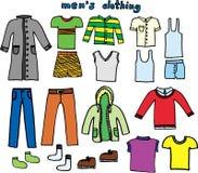 De kleding van Men´s Stock Afbeeldingen