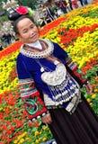 De kleding van Miao in vrouwen Stock Afbeelding