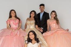 De Kleding van tienerquinceanera royalty-vrije stock fotografie