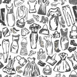 De kleding voor vrouwen is naadloos patroon Royalty-vrije Stock Foto's