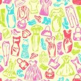 De kleding voor vrouwen is naadloos patroon Stock Afbeeldingen