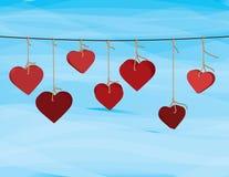 De kledingslijn van de valentijnskaart Royalty-vrije Stock Afbeeldingen