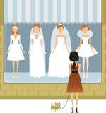 De kledingssalon van het huwelijk Stock Foto