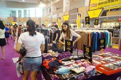 De kledingstentoonstelling van het Shenzhen internationale beroemde merk Royalty-vrije Stock Foto