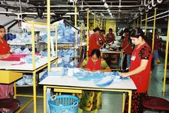 De kledingstukkenindustrie in Bangladesh royalty-vrije stock foto