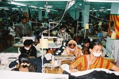 De kledingstukkenindustrie in Bangladesh royalty-vrije stock afbeelding