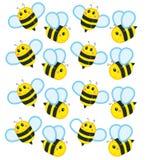 De kleine bijen Royalty-vrije Stock Fotografie