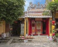 De kleine Boeddhistische tempel in Hoi An, Vietnam wijdde aan het verlichten van de pijn van Agent Orange stock afbeelding
