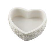 De kleine doos van het hart van steen van het marmer Stock Foto's