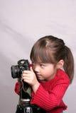 De kleine fotograaf. Stock Afbeeldingen